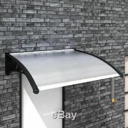 VidaXL Door Canopy 150x100cm Outdoor Porch Window Rain Awning Shelter Shade