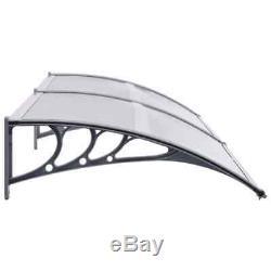 VidaXL Door Canopy 240cm PC Porch Awning Rain Shelter Roof Cover Front Door