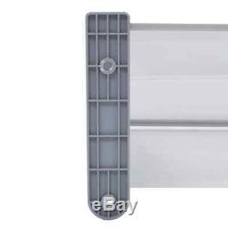 VidaXL Door Canopy Grey 300x100cm Plastic Rain Porch Shade Awning Shelter