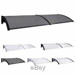 VidaXL Door Canopy PC Porch Awning Rain Shelter Roof Multi Colours Multi Sizes
