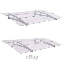 VidaXL Door Canopy Polycarbonate Porch Awning Rain Shelter Roof 120cm/150cm