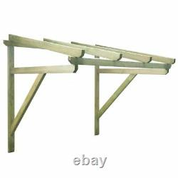 VidaXL Door Canopy Wood Front Porch Awning Rain Shelter Shade Multi Sizes