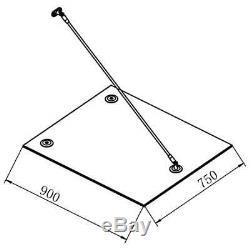 VidaXL VSG Safety Glass Canopy Front Door 180x75cm Porch Awning Rain Shelter
