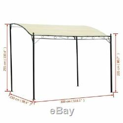 Wall Mounted Gazebo Door Canopy Awning Porch Patio Tent Sunshade Shelter Cream