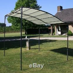 Wall Mounted Gazebo Door Canopy Awning Porch Patio Tent Sunshade Shelter Cream