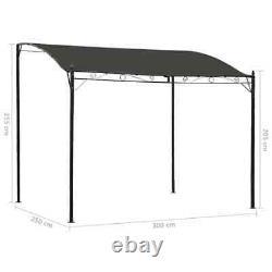 Wall Mounted Gazebo Door Canopy Awning Porch Patio Tent Sunshade Shelter Grey