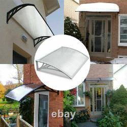 White/Black Door Canopy Awning Shelter Front Back Porch Outdoor Shade Patio Roof