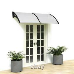White Door Canopy Awning Shelter Front Back Porch Outdoor Shade Patio Roof Cover