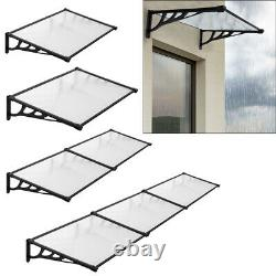Window Roof Outdoor Door Canopy Fixed Awning Porch UV Water Rain Cover Shelter