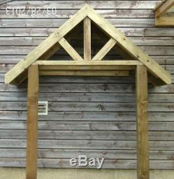 Wooden Deep Front Door Canopy Porch & STILTS