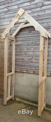 Wooden Door Canopy OAK Cottage Style & Oak Stilts