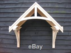 Wooden Door Canopy Porch Cottage Style