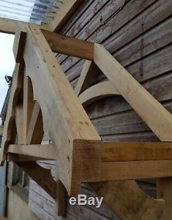 Wooden Door Canopy Porch OAK COTTAGE FLEUR DE LYS PORCH