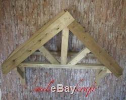Wooden Door Canopy Timber 3 spoke LARGE