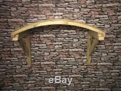 Wooden Door Canopy Timber/Poly Carbonate Open Front Door Canopy Porch Bespoke