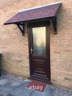 Wooden Timber Geom Mitre Clear Glazed Fir Flat Door Porch Canopy Brand New