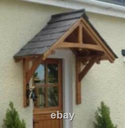 Wooden door porch canopy rain cover shelter